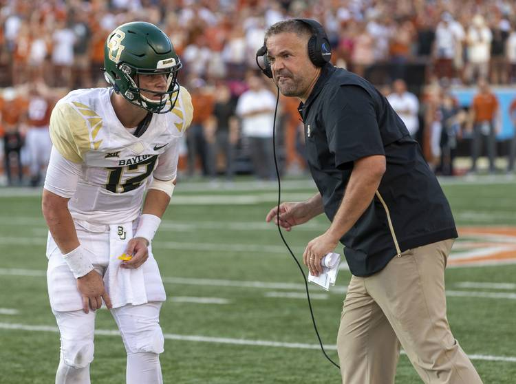 The Dotted Line Baylor S Rhule Playing It Slow On The