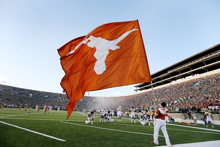 High School Football Team Logo Combines Longhorn With Aggie Maroon