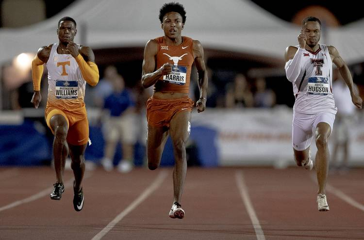 Two school records fall during split-squad track and field competition