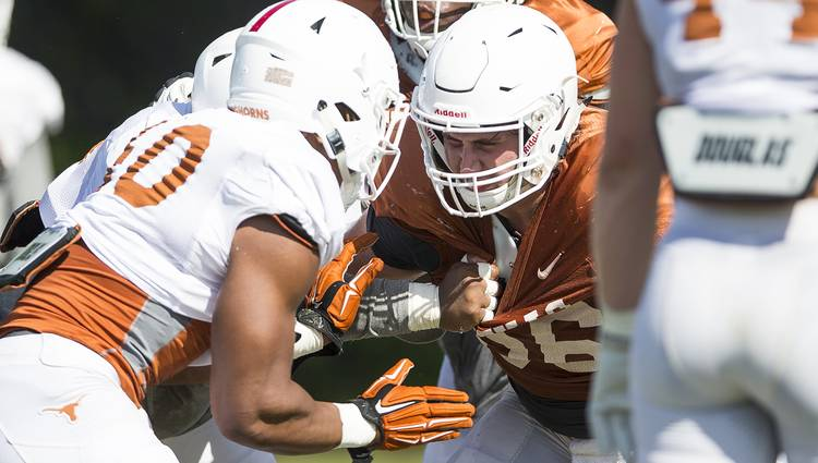 reputable site 59f27 f4761 Three observations from Texas' third practice of spring camp ...