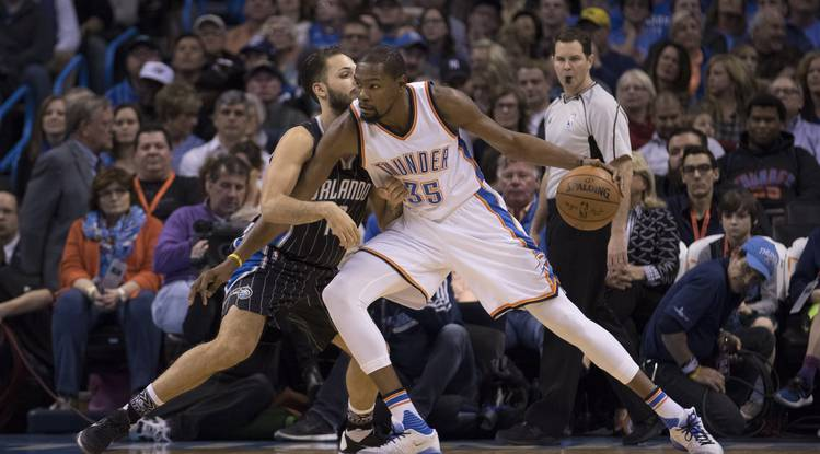 d08db03b43a8 Watch  Kevin Durant buzzer-beater secures win over Magic