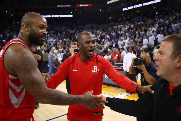 Image result for chris paul with rockets teammates