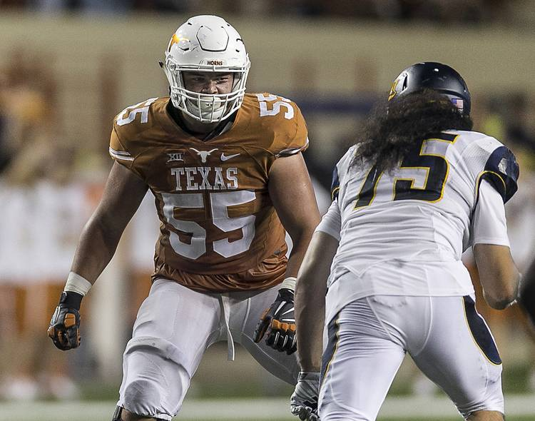 newest 78ee1 1c4d3 Brawn, brains and work ethic: Texas' Connor Williams prefers ...