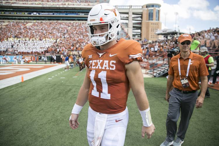 buy online b0b9f 05f31 LISTEN: Texas coach Tom Herman discusses QB Sam Ehlinger's ...