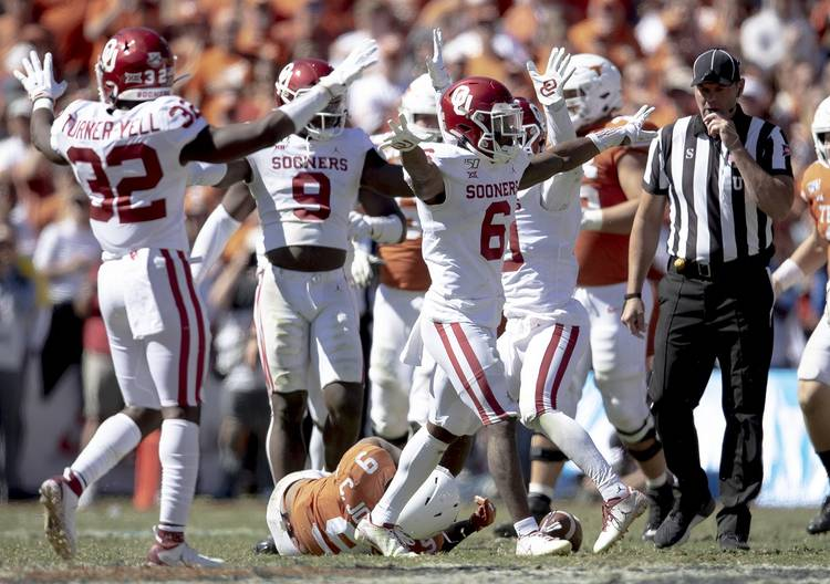 No 6 Oklahoma 34 No 11 Texas 27 Make No Mistake This Was A Red River Rout Hookem Com