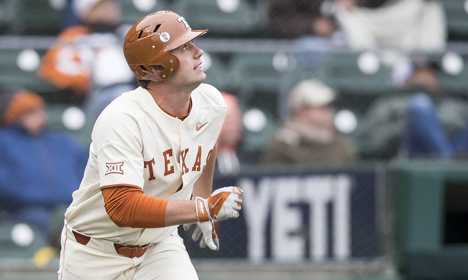 longhorns baseball clinches series against oklahoma | hookem