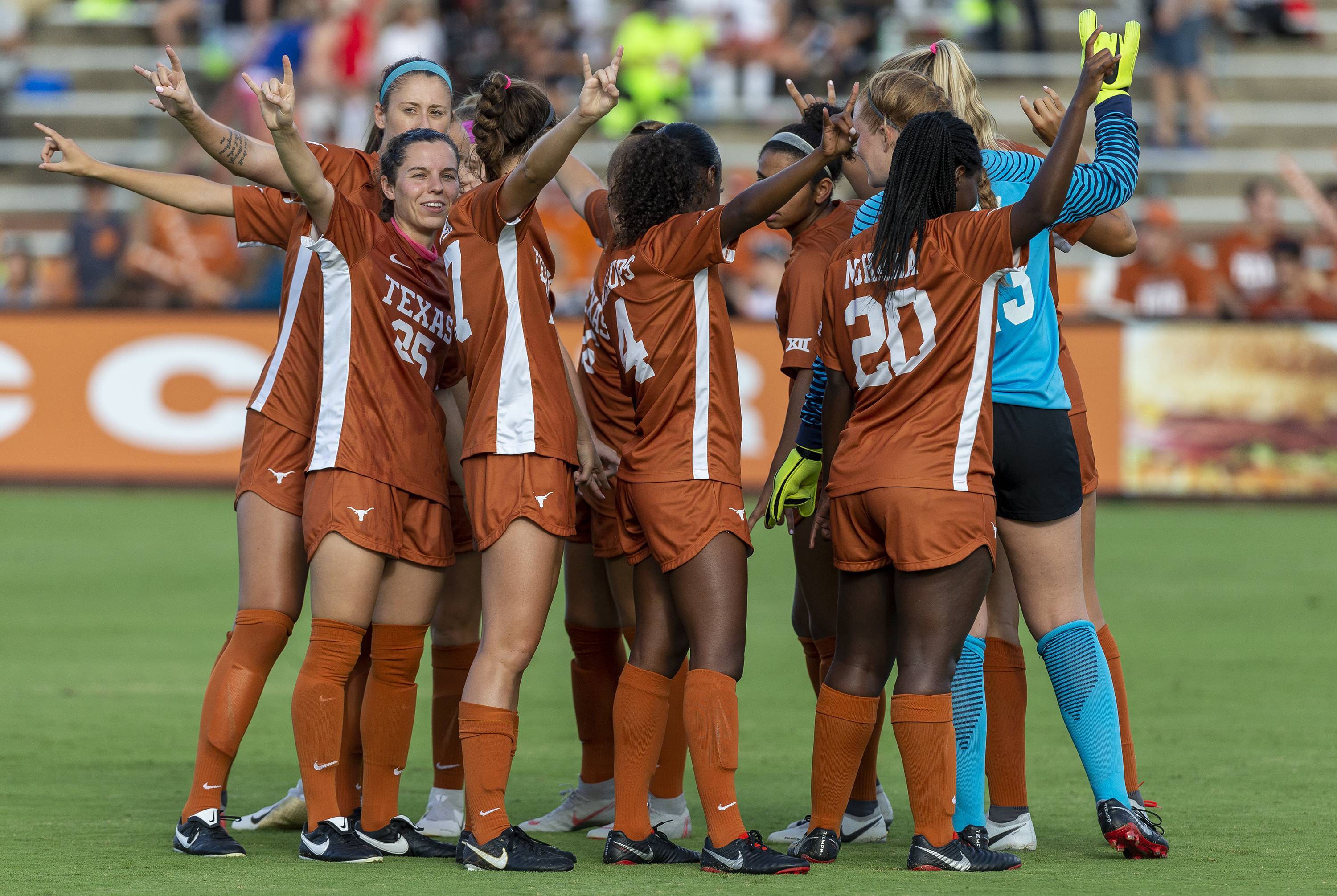 Early goals lift Texas soccer to 3-0 win over Corpus Christi