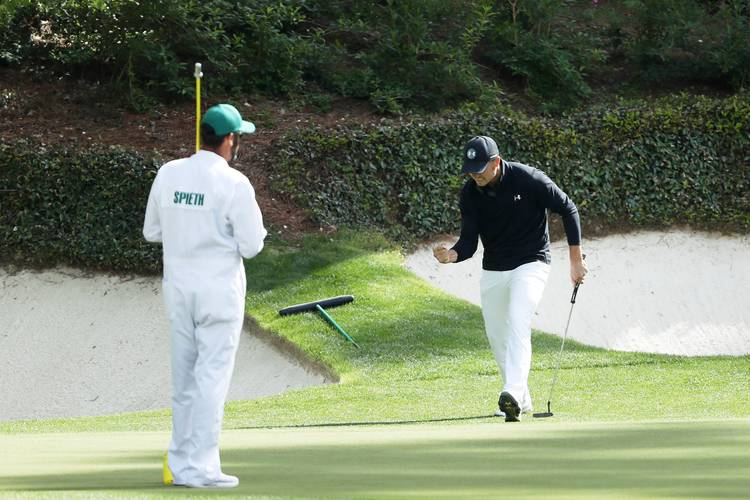 f0beb92ab0d992 Jordan Spieth finishes final round of 2018 Masters two strokes ...