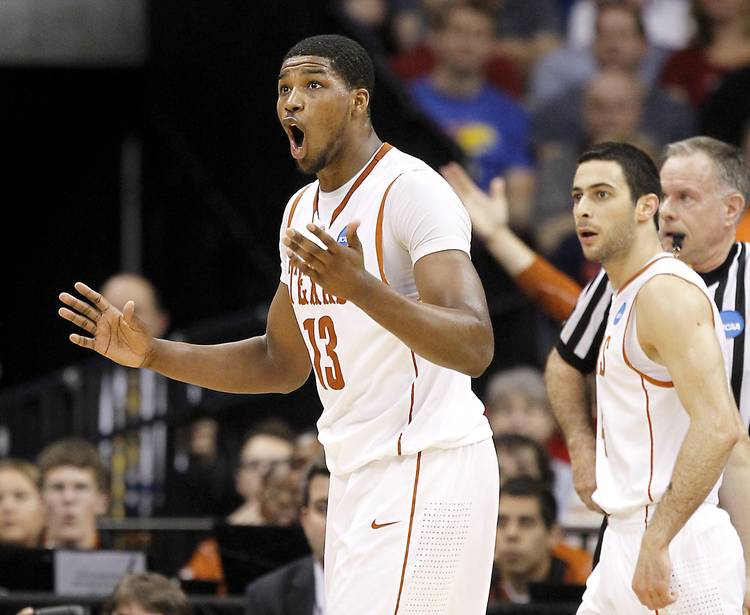 1ce5a0ec7 ORG XMIT  1102706 Texas forward Tristan Thompson (13) reacted to being  called for a foul during first-half action in the third round of the men s  2011 NCAA ...